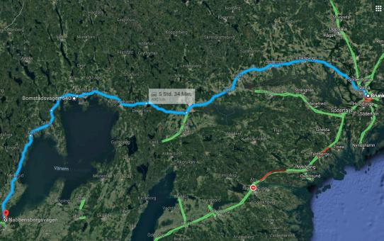 5. Etappe auf nach Vänersborg